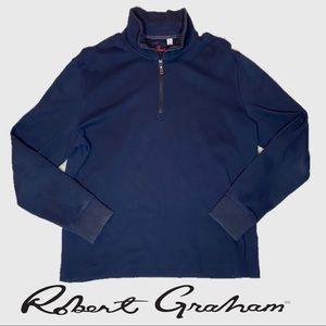 Robert Graham 1/4 ZIP Blue Pullover